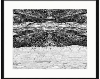 Rolling Clouds - Black and White Landscape Photography Turned Optical Art - Home Decor