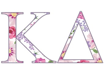 Pink and Purple Flower Decal