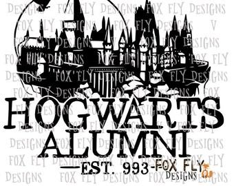 Hogwarts Alumni SVG Cricut Silhouette Harry Potter HP Ron Hermoine