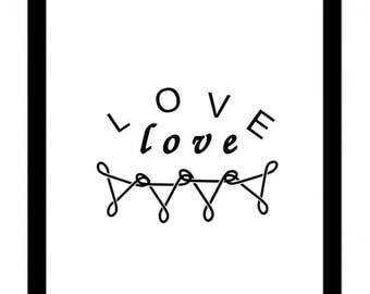 Printable quote Love