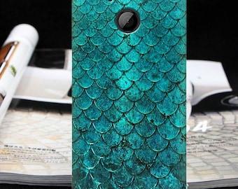 Green scales case One X9 One ME One Max htc U Ultra htc U Play htc U11 Bolt htc 10 evo htc One A9 mermaid case htc One M8 htc One M8s htc 10