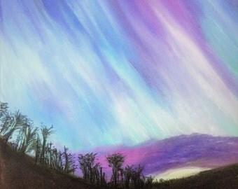 Aurora pastel print