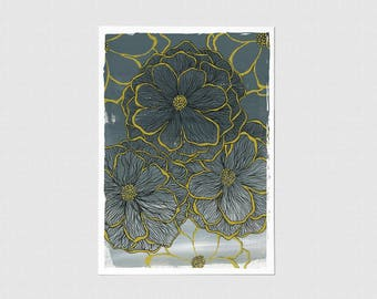 Golden Tipped Blank Greeting Card