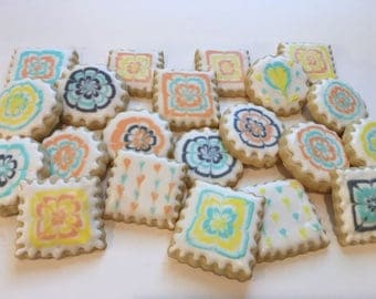 Bite sized marbled cookies