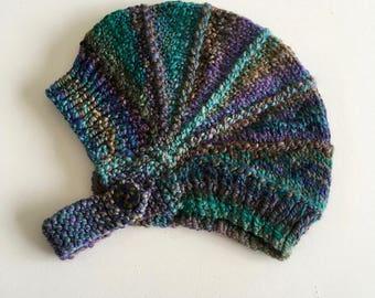 Baby Beanie - Newborn Knit Beanie - Knitted Baby Hat - Hand Knitted Beanie - Warm Winter Hat - Neutral Baby Beanie - Photo Prop - Baby Gift