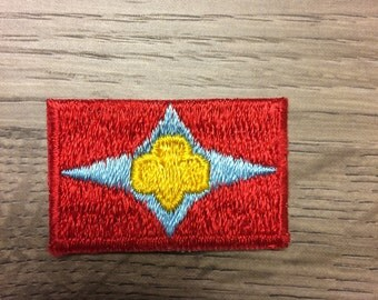 Vintage Sign of the star girl scout badge circa 1963-1980