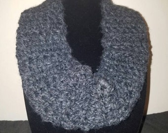 Gray wool cowl
