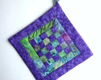 Handmade Potholder with Insulated Heat Resistant Lining