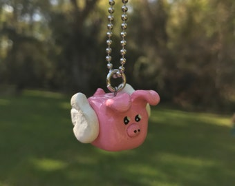 Kawaii Flying Pig Necklace
