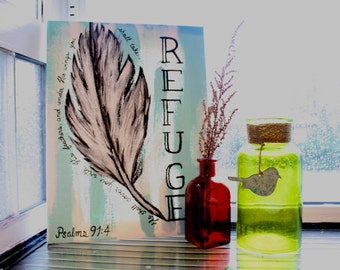 Feather Refuge Canvas