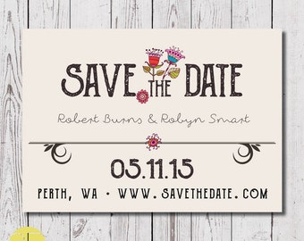 save the date, save the date custom download, printable save the date