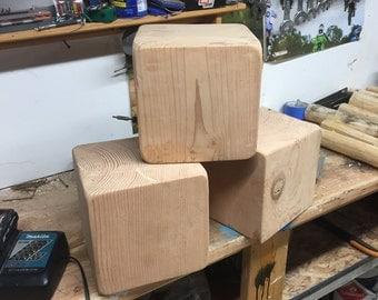Large Wooden Unfinished Blocks