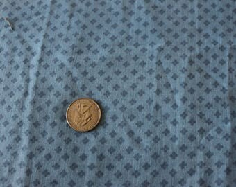 16 Blue Calico vintage fabric