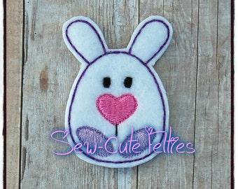 Egg Shaped Bunny Feltie* Hair Bow Embellishment