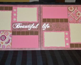 Beautiful Life scrapbook page kit