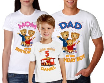 Daniel Tiger Birthday Shirt Personalized For All Family members
