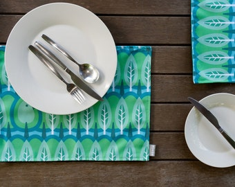 Handmade Placemats In the Pines Design