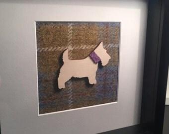 Scotty Dog Harris tweed frame