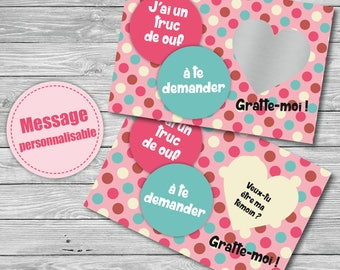 Will request witness scratch card you be my witness?  -personalized hidden message