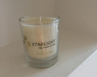 Scented Soy Wax Votive Glass Jar Candle Any Fragrance