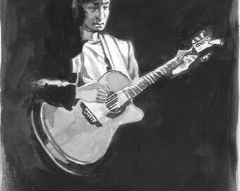 Guitar Player - Watercolor