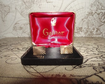 French Gold Plated Cufflinks - Vintage - Goldor - 18 Karat - Best Man Gift