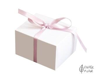 10 boxes gift boxes white (E-2)