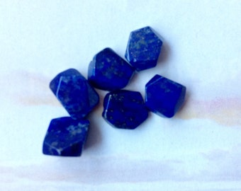 Six Superior Quality Lapis Beads, High Quality Lapis Beads, Natural Lapis, 10mm, Natural Gemstone