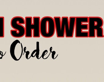 Custom Shower Gel! Made To Order!!