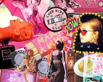 Vogue Collage Print