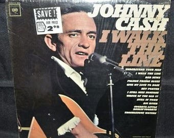 "Johnny Cash I Walk The Line 12"" Record"