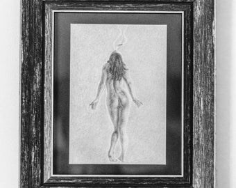 Blood Scent. Pencil Drawing Print