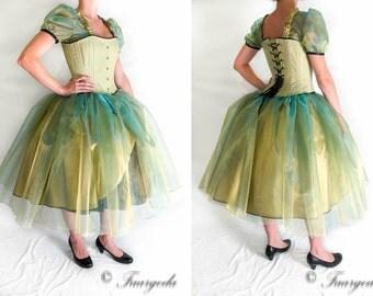 Princess with crinoline and corset costume