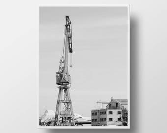 industrial art industrial decor black & white photography industrial photography monochromatic art print fine art photography cityscape art