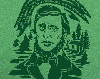 t shirt men/women Thoreau Quote