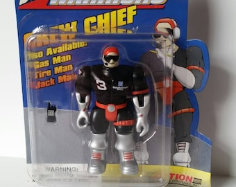 1990s Over the wall action warriors, Dale Earnhardt Sr., crew chief action figure. Still in box.