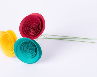 "Hand-made paper flowers - bouquet ""Contrast"""
