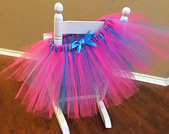 Pink and Blue Multi Colored Fluffy Tutu sizes Newborn to Adult
