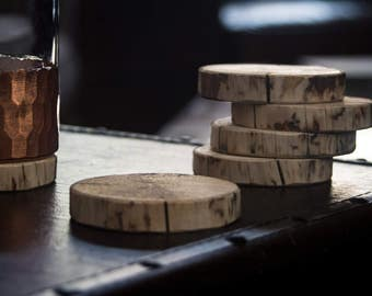 Upcycled Pine Coasters