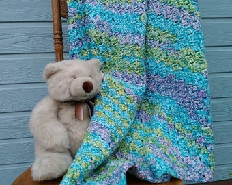 Gender neutral crochet baby blanket