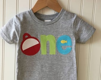 Pastel o-fish-ally ONE birthday tee. The BIG one first birthday shirt. Bobber, fishing, boating, vacation, trip, birthday shirt. Any age.