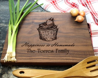 Personalized Cutting Board - Engraved Cutting Board, Custom Cutting Board, Housewarming Gift, Wedding Gift, Engagement, Anniversary (03)
