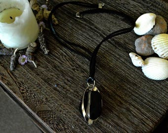Obsidian Necklace// Gemstone Necklace// Witchcraft Jewelry// Wicca// Magick