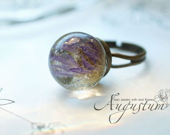 Epoxy resin Ring with flower