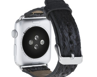 Apple Watch strap fish Leather bands are the elegant perfect replacement band for your Apple Watch.
