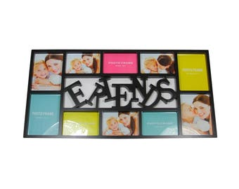 """28.75"""" Black Dual-Sized """"Friends"""" Photo Picture Frame Collage Wall Decoration - ITEM# 32011359"""