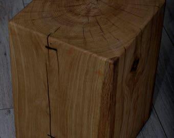 Stool oak natural