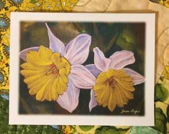 Note cards, blank note cards, blank cards, original note cards, greeting cards, thank you cards, buttercup cards, flower note cards