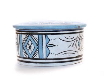 Atlas Jewellery Pot, Blue