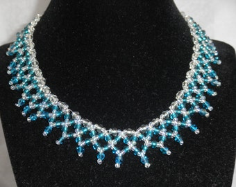 Mainly Teal Necklace and Earrings set